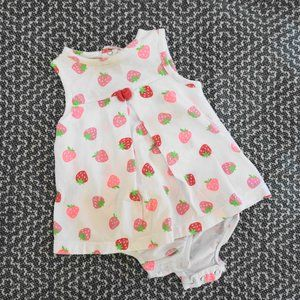 Carters Girls Tank Dress Strawberry Print